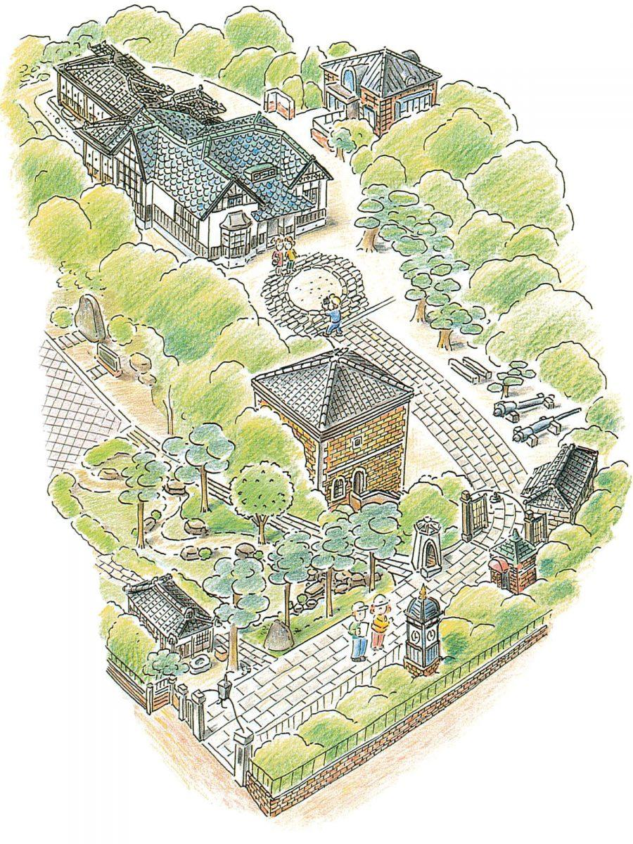 入船山記念館館内図
